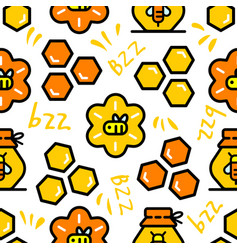 propolis bee honey color seamless pattern vector image