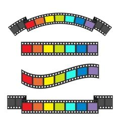 Rainbow flag Film strip frame set Different shape vector image