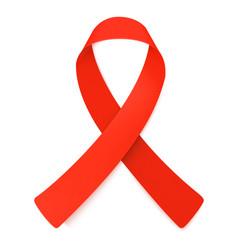 red ribbon symbol of aids awareness vector image