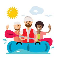 refugee migrants boat illegal migration vector image