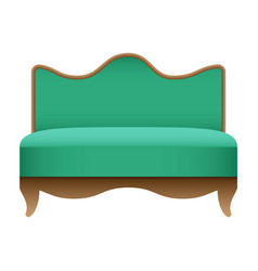 royal green sofa mockup realistic style vector image