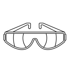 safety glasses icon outline style vector image