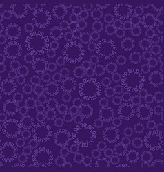 Seamless violet flower mandala for print on vector