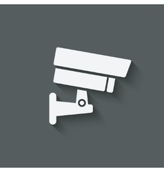 security camera symbol vector image