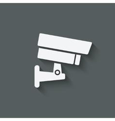 security camera symbol vector image