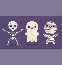 set of children in costumes vector image