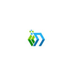 shape geometry technology company logo vector image