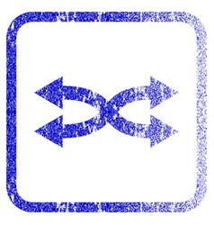Shuffle arrows horizontal framed textured icon vector