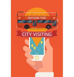 Sightseeing Tours vector image