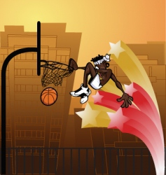 Slam dunk urban vector