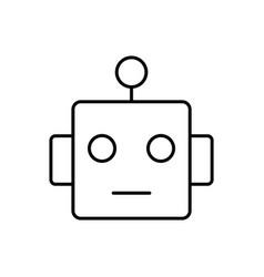 smart robot icon - artificial vector image