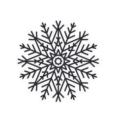 Snowflake silhouette colorless vector