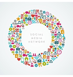 Social media network icons circle composition vector