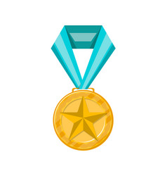sport competition golden medal icon vector image