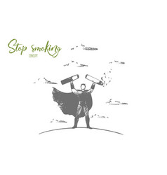stop smoking concept hand drawn isolated vector image