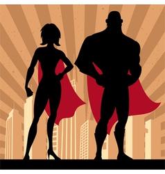 Superhero Couple 4 vector image vector image