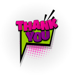 Thank you thanks comic book text pop art vector