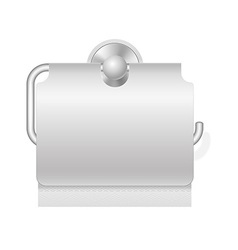 Toilet paper on holder 03 vector
