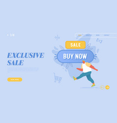 total sale and festive discount website landing vector image