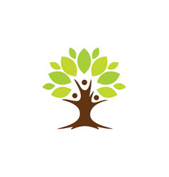 Tree botany life nature logo vector