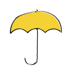 umbrella hand drawn outline doodle icon vector image