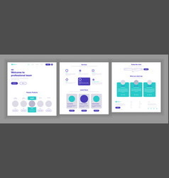 website template page business interface vector image