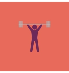 Weightlifting flat icon vector