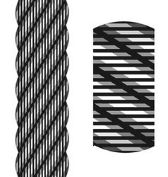 Wire steel rope seamless vector
