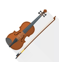 color flat style fiddle violin vector image vector image