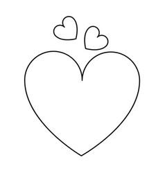 love heart romantic symbol line vector image vector image