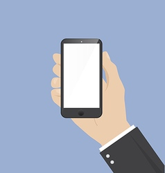 Mobile Phone in Businessman hand vector image
