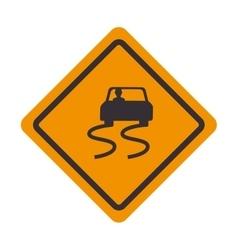 signal traffic slipery road design vector image