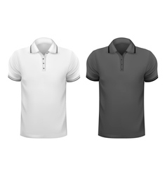Black and white men t- shirts Design template vector image vector image