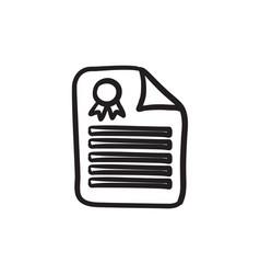Real estate contract sketch icon vector