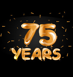 75 years golden anniversary celebration vector image vector image