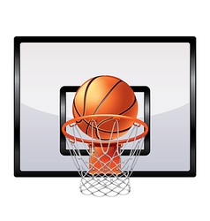 basketball ring isolated vector image