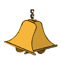 Bells hanging on chain instrument sound vector