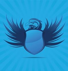 Blue Shield Eagle vector image