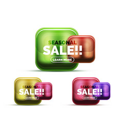 glass sale icons vector image