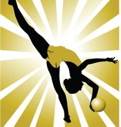 golden gymnastics vector image vector image