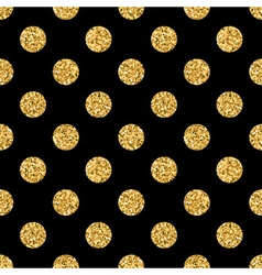 Polka dot BIG gold 1 black vector image