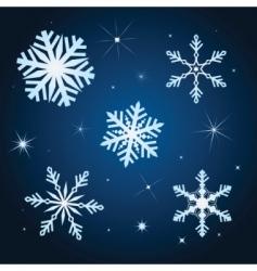 snowflake winter set illustration vector image vector image