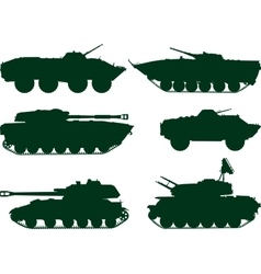 Soviet military vehicles vector image vector image