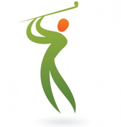 sport silhouette series golf vector image vector image