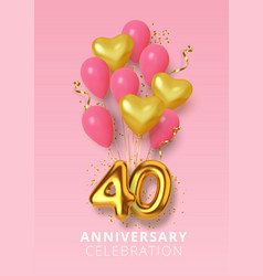 40th anniversary celebration number in form vector