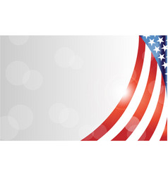 American flag symbols background frame border vector