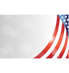 american flag symbols background frame border vector image