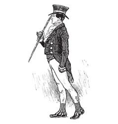 An english gentleman vintage engraving vector