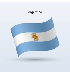 Argentina flag waving form vector image