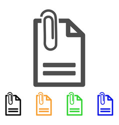 attached document flat icon vector image
